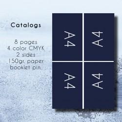 Έντυπα 8 σέλιδα 4χρωμία CMYK 2 όψεις 150γρ.illustration βιβλιοδεσία καρφίτσα.